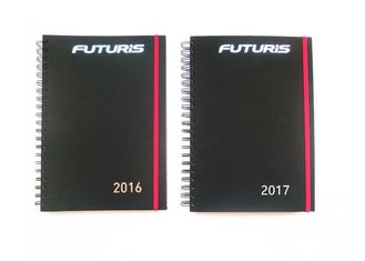 Custom Spiral Notebook Printing , Notepad Printing Services Black On White Color