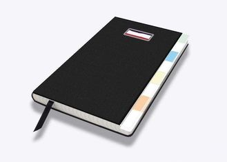 PU Gift Notebook Printing Services With Steel Logo Decoraton CMYK Full Color
