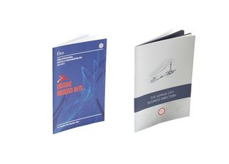 Perfect Bound Brochure Printing Services , Saddle Stitch Binded Book Printing