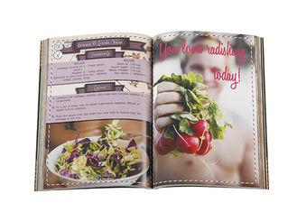 Food Book Printing , Custom Cookbook Printing Case Bound Book Printing