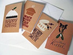 Commercial Custom Christmas Card Printing Service , Greeting Card Printing Services