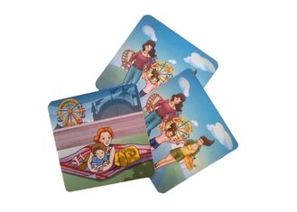 Family Affection Custom Card Printing Board Paper Material Metallic Color