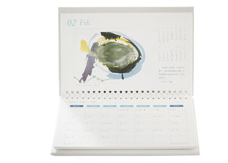 Custom Wall Calendar Printing , Wire Bound A3 Calendar Printing 9 Color Available