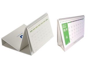 Professional 2018 Table Calendar Printing Services Wire Bound Binding