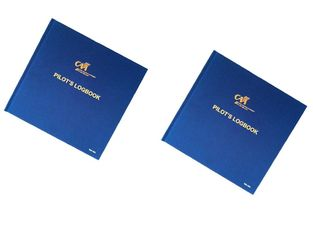 Promotional Blue Pilot Logbook Printing Hardcover Printing Service Case Bound